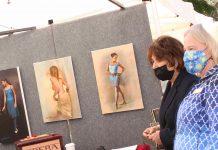 Eshoo and Gibbons at art booth