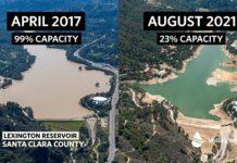lexington reservoir 2017 2021 valley water drought